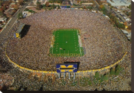 Michigan Wolverines - Largest stadium in America